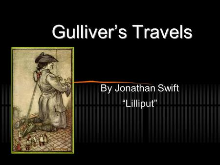 gulliver s travels allegory Category: free example essays title: political allegory in gulliver's travels.