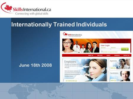 Internationally Trained Individuals June 18th 2008.