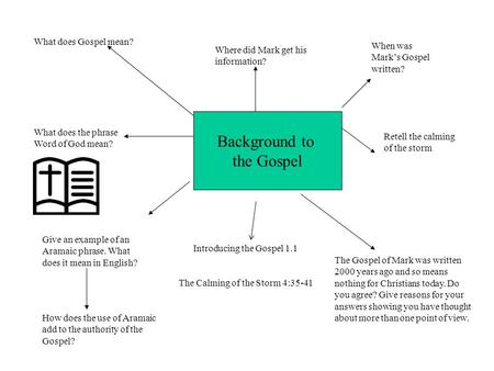 Background to the Gospel What does Gospel mean?