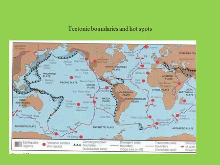 Tectonic boundaries and hot spots. A useful reference  dynamicearth/sitemap.html