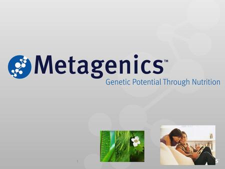 1. 2 METAGENICS : Partner of ALTICORE Group of Companies ALTICOR Group of Companies Holding entity for diverse group of companies Present in more than.