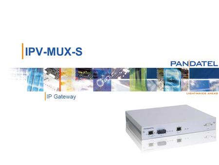 | IPV-MUX-S | IP Gateway. |2|2 | IPV-MUX-S IP Gateway Line Ports | 10/100BaseT Ethernet auto-negotiation | Fiber Optic Module, 100BaseFX |1300nm Multimode.