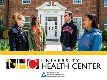 Leading the Way to Healthier Terps. STUDENT SERVICES INCLUDE: Primary Care Urgent Care Women's Health Lab Pharmacy Mental Health, Substance Abuse & Sexual.