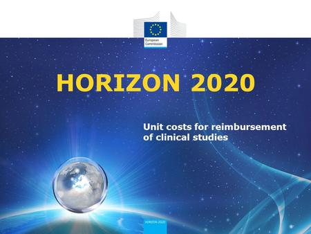 Unit costs for reimbursement of clinical studies HORIZON 2020.