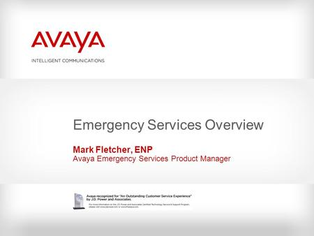 Emergency Services Overview