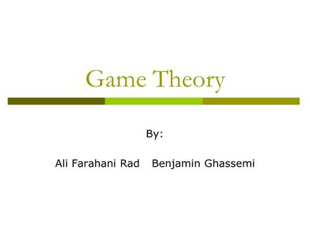 brandenburger and nalebuff s 1995 article the right game use game theory to shape strategy Brandenburger, am & nalebuff, bj (1995) the right game: use game theory to shape strategy  the game theory strategy that's changing the game of business.