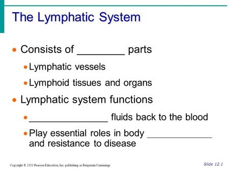 The Lymphatic System Consists of ________ parts