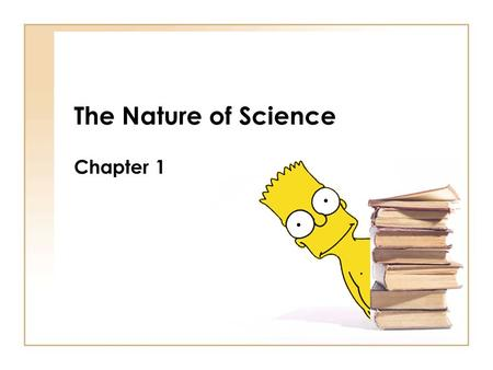 The Nature of Science Chapter 1. Section 1 What is Science? You should know this by now!!!