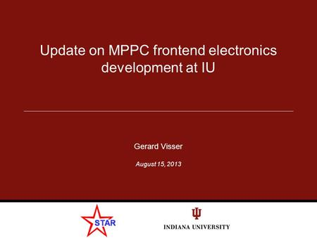 Update on MPPC frontend electronics development at IU