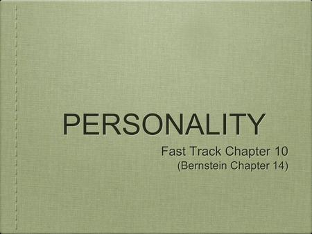 Chapter 3 Personality Disorders My Nursing Test Banks