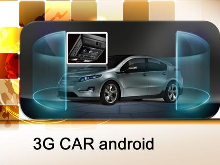 3G CAR android. Picture 添加 LOGO 01 02 03 Front side Side Backside.