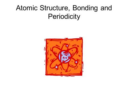 Atomic Structure, Bonding and Periodicity. Contents Atomic Structure Amount of Substance Bonding Periodicity.