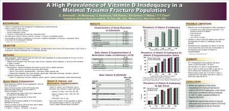 A High Prevalence of Vitamin D Inadequacy in a Minimal Trauma Fracture Population A High Prevalence of Vitamin D Inadequacy in a Minimal Trauma Fracture.