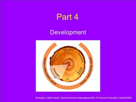 Torrington, Hall & Taylor, Human Resource Management 6e, © Pearson Education Limited 2005 Part 4 Development.
