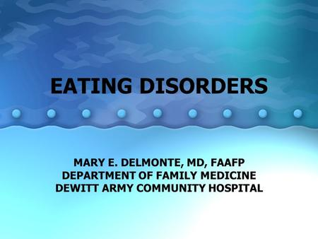 an overview of the eating disorders anorexia nervosa and bulimia nervosa 143 chapter:11 eating disorders topic overview anorexia nervosa the clinical picture medical problems bulimia nervosa binges compensatory behaviors bulimia nervosa vs anorexia nervosa.