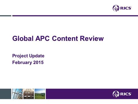 Global APC Content Review Project Update February 2015.