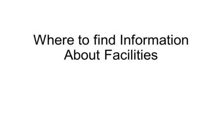 Where to find Information About Facilities. Overview of Title V Permits.