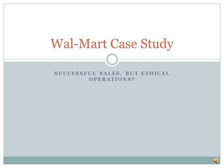 Wal mart case study questions answers
