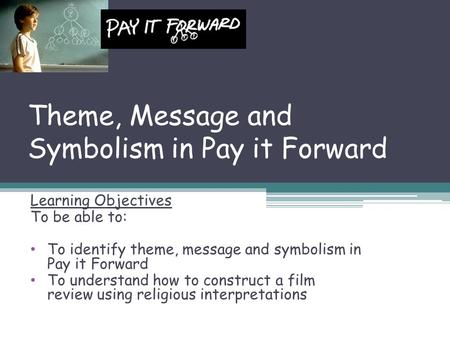 Pay it forward summary essay