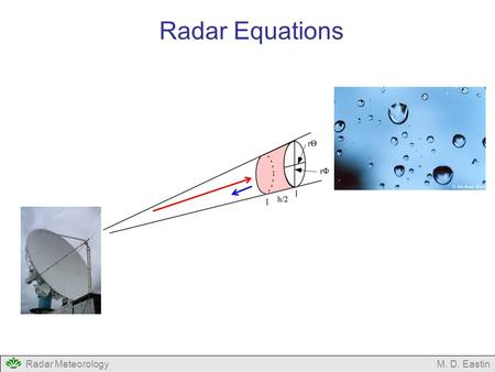 Radar Equations Radar Meteorology M. D. Eastin.