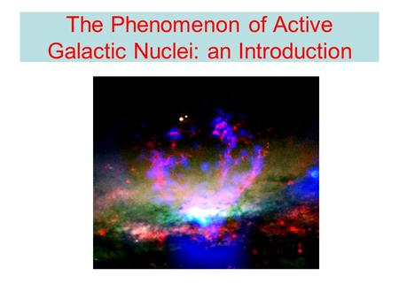 The Phenomenon of Active Galactic Nuclei: an Introduction.