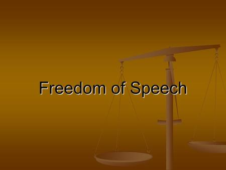 "Freedom of Speech.  acts/funddocs/billeng.htm Amendment I ""Congress shall make no law respecting an establishment."