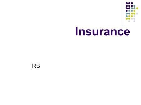 Insurance RB. Answer the questions based on the text (RB, p. 65) What kinds of information can you find in an insurance contract? What should you include.
