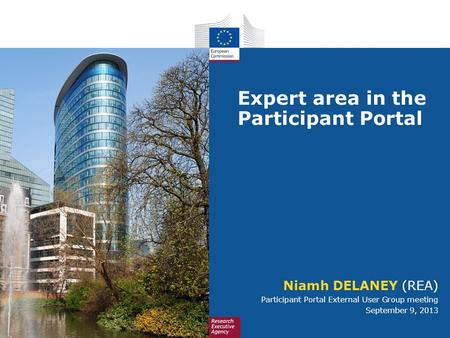 Expert area in the Participant Portal
