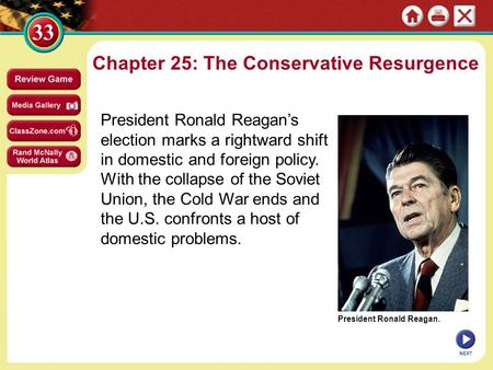 Chapter 25: The Conservative Resurgence