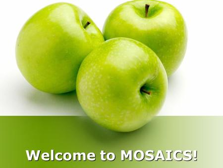Welcome to MOSAICS!. Overview One designated weekday per grade level Students attend lunch, recess, and specials with their general education class. Students.