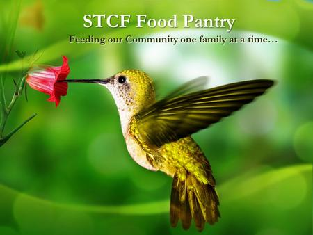 STCF Food Pantry Feeding our Community one family at a time…