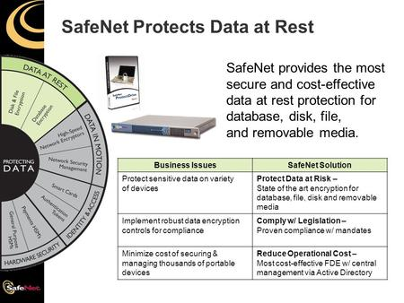 SafeNet Protects Data at Rest