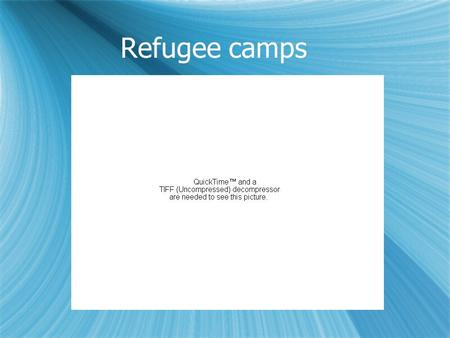 Refugee camps.  Q1-Some difficulties would be There is 3.5 square meters at the minimum that a refugee would live in.There is 5.5 square meters at the.