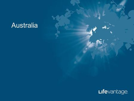 Australia. LifeVantage Corporation True Products.