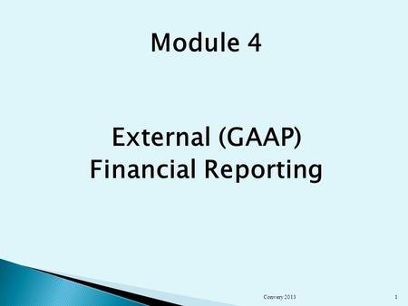Module 4 External (GAAP) Financial Reporting Convery 20131.