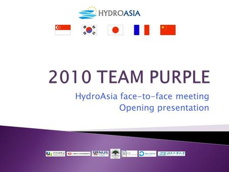HydroAsia face-to-face meeting Opening presentation.