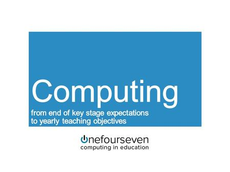 Purpose of study A high-quality computing education equips pupils to use computational thinking and creativity to understand and change the world. Computing.