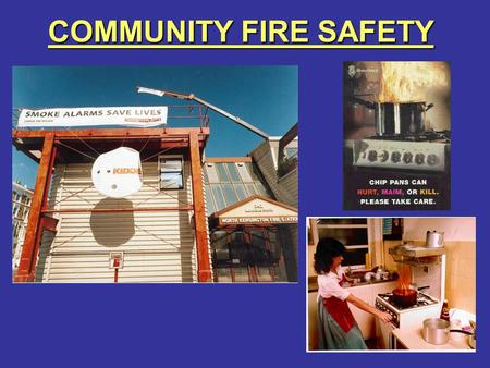COMMUNITY FIRE SAFETY. FIRE SAFETY IN THE HOME SUBJECTS COVERED: -SUBJECTS COVERED: - –SMOKE ALARMS –HOME SAFETY PLAN –WHAT TO DO IF A FIRE STARTS –BEDTIME.