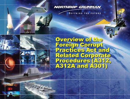 0 Overview of the Foreign Corrupt Practices Act and Related Corporate Procedures (A312, A312A and A301)