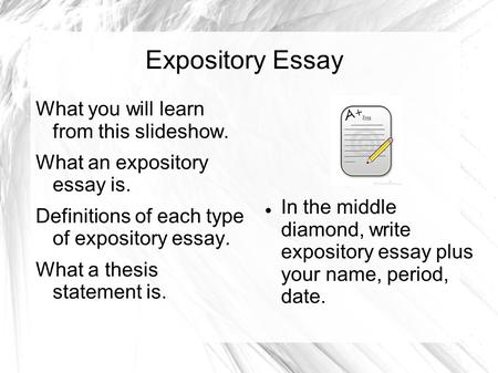 An Example Of An Expository Essay Characteristics Of An Expository Essay Quiz Amp Worksheet Characteristics  Of An Expository Essay Quiz Amp Worksheet