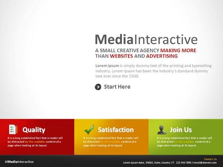 © MediaInteractive MediaInteractive Lorem Ipsum is simply dummy text of the printing and typesetting industry. Lorem Ipsum has been the industry's standard.