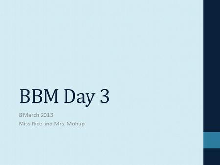 BBM Day 3 8 March 2013 Miss Rice and Mrs. Mohap. Warm-Up What is your first impression of Eugene? What kind of person do you think he is? What issues.