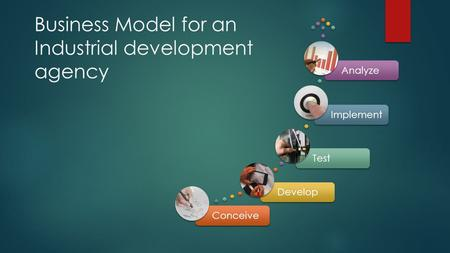 Business Model for an Industrial development agency ConceiveDevelopTestImplementAnalyze.