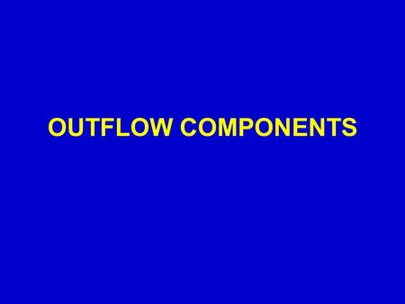 OUTFLOW COMPONENTS. Evapotranspiration (EVAP) l Evapotranspiration is the result of surface water and soil evaporation and transpiration from the plants.