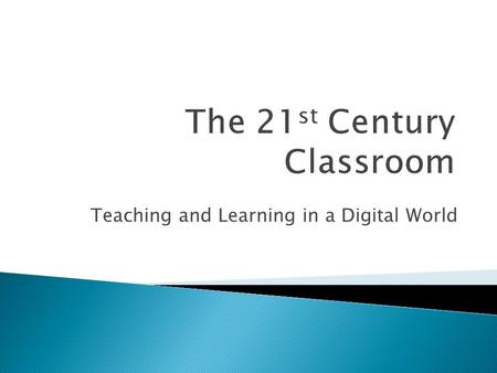Teaching and Learning in a Digital World. FaceBook Twitter Delicious Glogster LinkedIn.