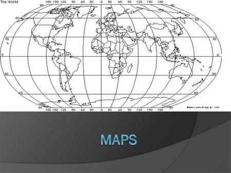 Maps  A map is a model or representation of the Earth's surface.  The map contains latitude and longitude.  The United States is always North of the.