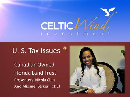 U. S. Tax Issues Canadian Owned Florida Land Trust