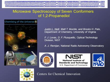 Microwave Spectroscopy of Seven Conformers of 1,2-Propanediol Justin L. Neill, Matt T. Muckle, and Brooks H. Pate, Department of Chemistry, University.
