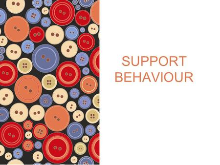 SUPPORT BEHAVIOUR. © 2012 Pearson Australia ISBN: 9781442541757 SUPPORT BEHAVIOUR Supportive environments The goal of a supportive environment is to build.