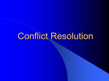 Conflict Resolution. Conflict Resolution Strategies Awareness and analysis Overreaction Clarify and reinforce expectation Install the motivation to settle—